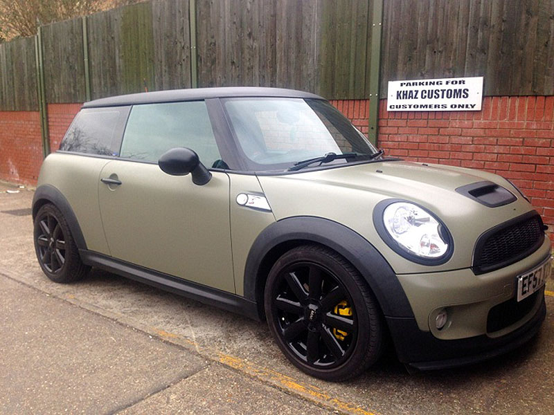 Satin Khaki Green Mini Cooper Wrap
