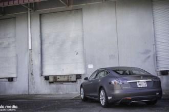 Matte Charcoal Tesla Model S Wrap