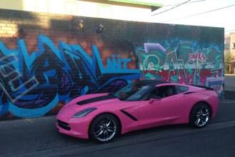 Hot Pink Corvette Wrap
