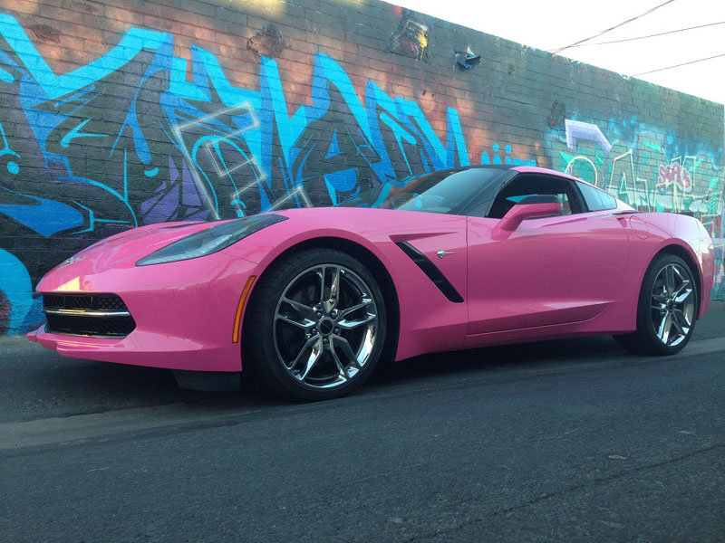 Pretty in pink wrap wrapfolio hot pink corvette wrap sciox Images