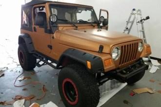 Matte Copper Jeep Wrangler Wrap