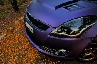 Purple Matte Metallic Suzuki Swift Wrap