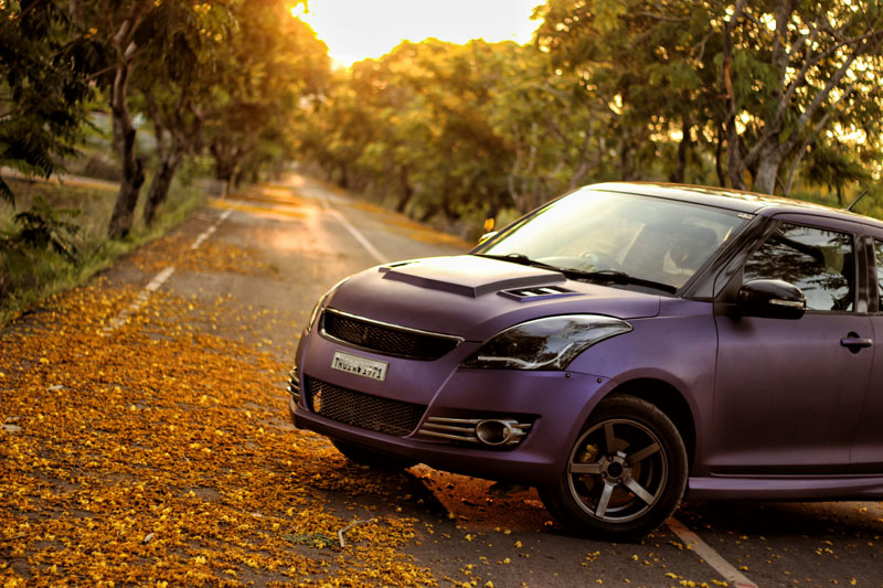 Purple Matte Metallic Suzuki Swift Wrap