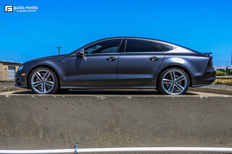 Satin Dark Grey Audi S7 Wrap Wrapfolio