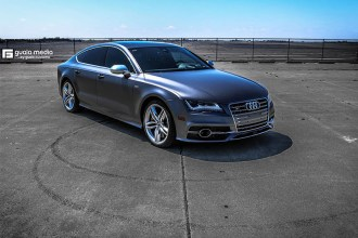 3M Satin Dark Grey Audi S7 Wrap