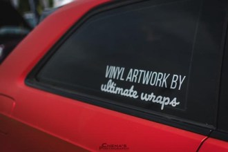 Frozen Red Chrome Audi A3 wrap