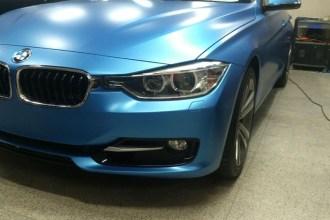 Oracal Matte Blue BMW 328i Wrap
