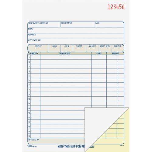 Adams Sales Order Book – 2 part (DC5805) 1