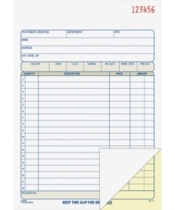 Adams Sales Order Book – 2 part (DC5805) 1