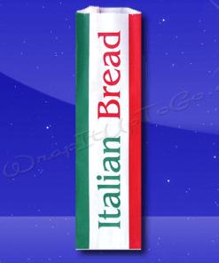 Bread Bags – 5-1/4 x 3-1/4 x 18 – Printed Italian Bread 1