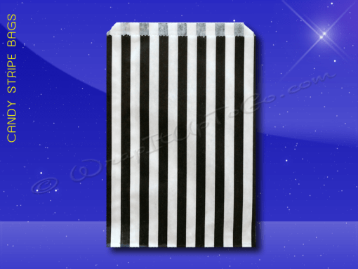 Candy Stripe Bags 5 x 7 – Black Stripes 1