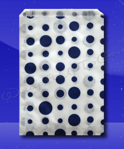 Candy Stripe Bags 10 x 14 – Blue Dots 1