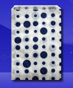 Candy Stripe Bags 7 x 9 – Blue Dots 1