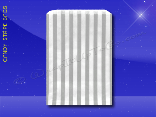 Candy Stripe Bags 10 x 14 – Grey Stripes 1