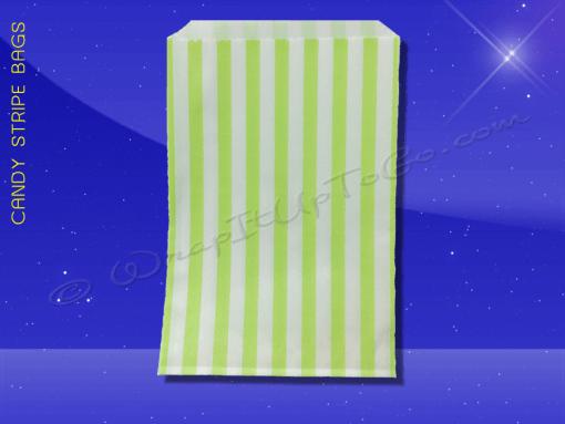 Candy Stripe Bags 5 x 7 – Lime Green Stripes 1