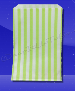 Candy Stripe Bags 5 x 7 – Lime Green Stripes 1