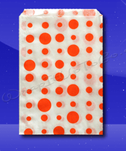 Candy Stripe Bags 7 x 9 – Orange Dots 1