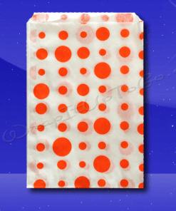 Candy Stripe Bags 7 x 9 – Orange Dots 1