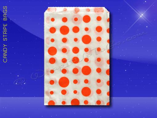 Candy Stripe Bags 5 x 7 – Orange Dots 1