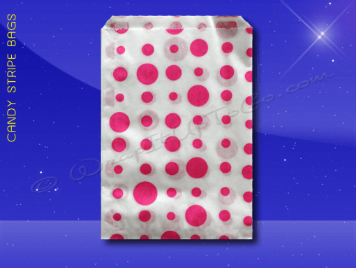 Candy Stripe Bags 5 x 7 – Pink Dots 1