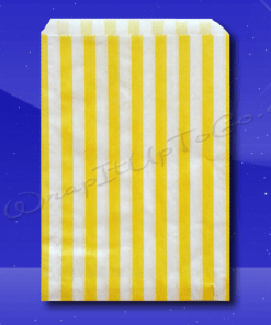 Candy Stripe Bags 10 x 14 – Yellow Stripes 1