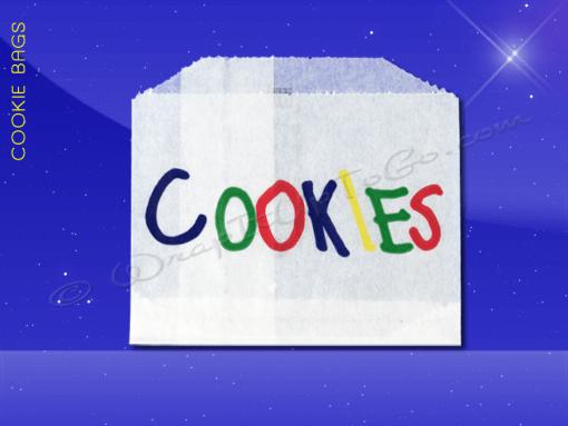 Cookie Bags – 4-1/2 x 3-1/2 – Printed Cookies 1