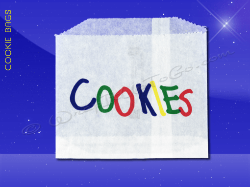 Cookie Bags – 4-7/8 x 4 – Printed Cookies 1