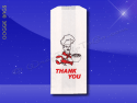 Duplex Doggie Bags – 5 x 3 x 12 – Printed Thank You Chef 1