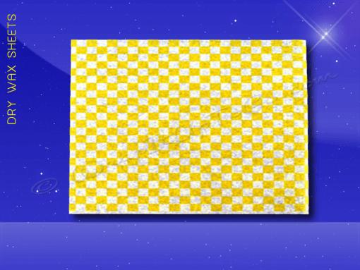 Dry Wax Sheets – 12 x 16 – Yellow Checkerboard 1