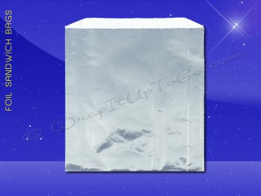 Foil Jumbo Sandwich Bags – 6-1/2 x 1-1/2 x 7-3/4 – Plain 1