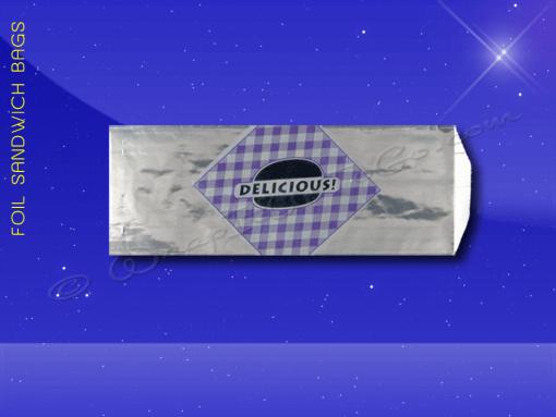 Foil Sandwich Bags – 4 x 2 x 10 – Printed Delicious 1