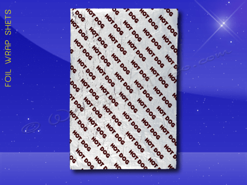 Foil Wrap Sheets – 9 x 12 – Printed Hot Dog Sale 1