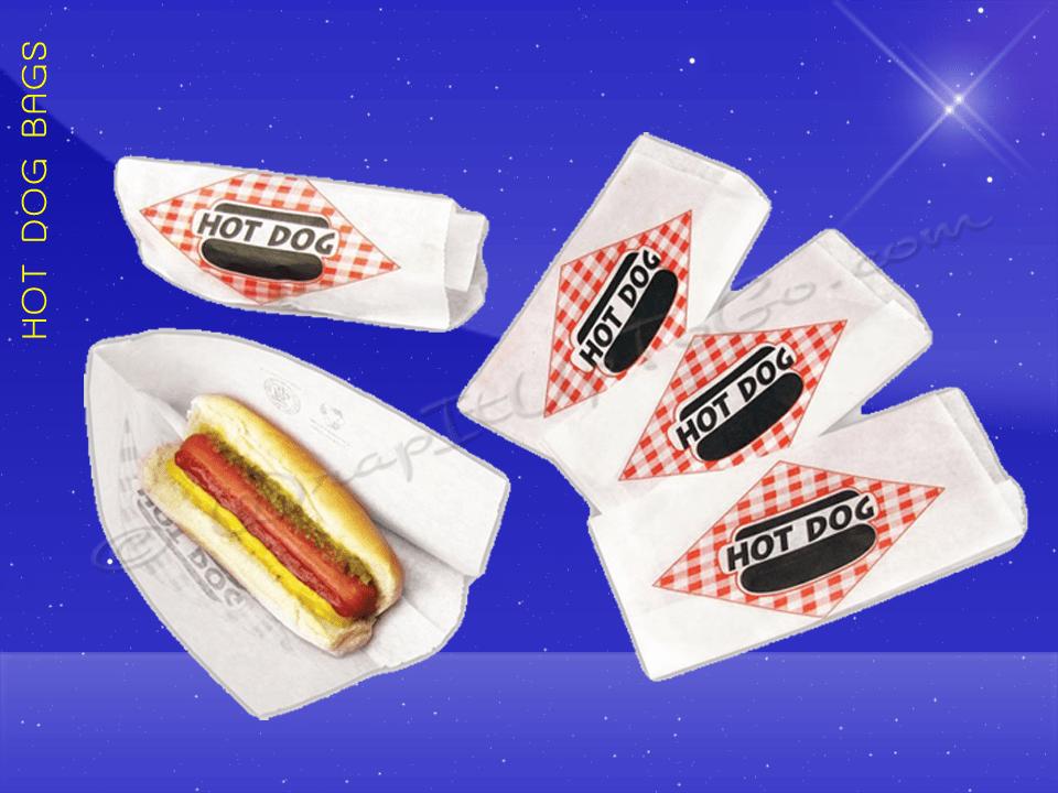 Hot Dog Bags – Conventional – 3 x 2 x 8-3/4 – Plain 2