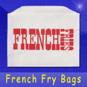 Fischer Paper Products 601 French Fry Bags 4-1/2 x 3-1/2 Printed French Fries