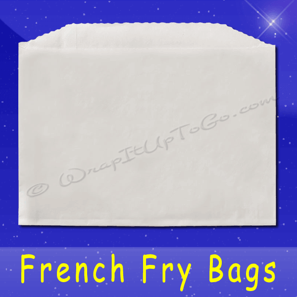 Fischer Paper Products 604-FF2 French Fry Bags 4-7/8 x 4 Plain