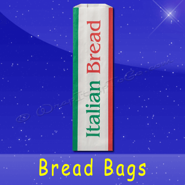 Fischer Paper Products BB-31 Bread Bags 5-1/4 x 3-1/4 x 18 Printed Italian Bread