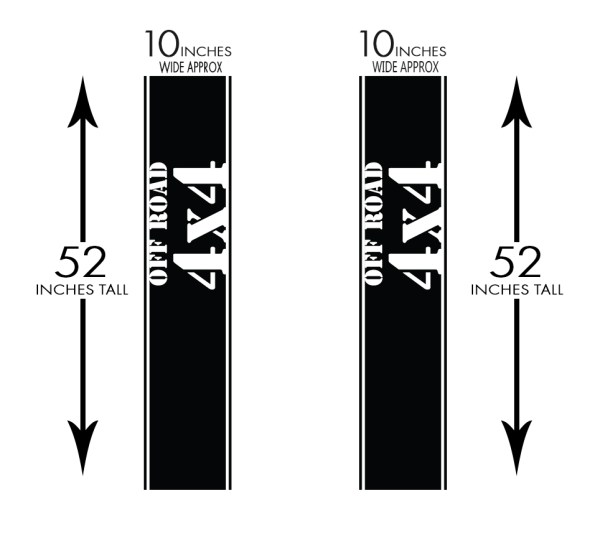 Truck Band 4x4 Off Road Truck Decals Graphics