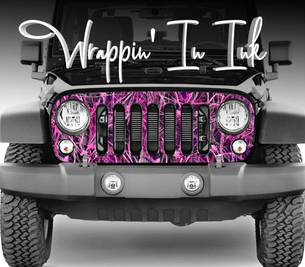 Jeep wrangler Grill Wrap Pink Camo