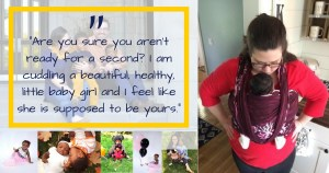 Babywearing adopted children: Lucy's suprise adoption