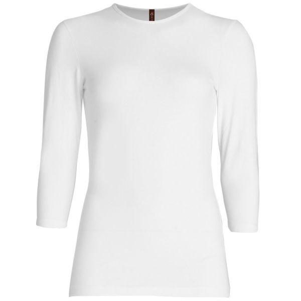 Three Quarter Sleeve Layering Top (White) – Wrapunzel