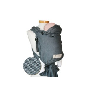 storchenwiege draagzak grijs