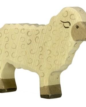 Holztiger schaap