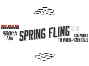 Join the Wreckless Blenders for the Spring Fling event on April 21, 2018 from 1-5pm at the Winery. Click for RSVP.
