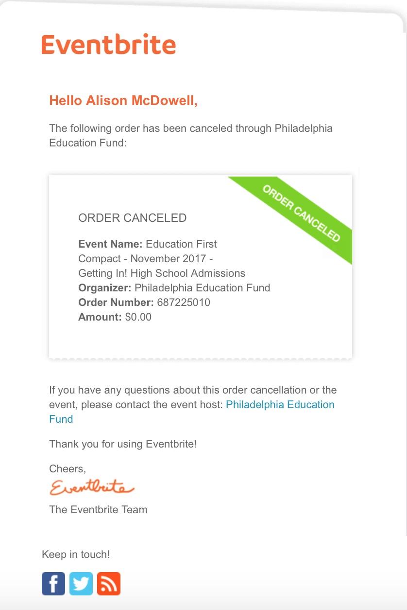 PEF Ticket 5 Cancellation