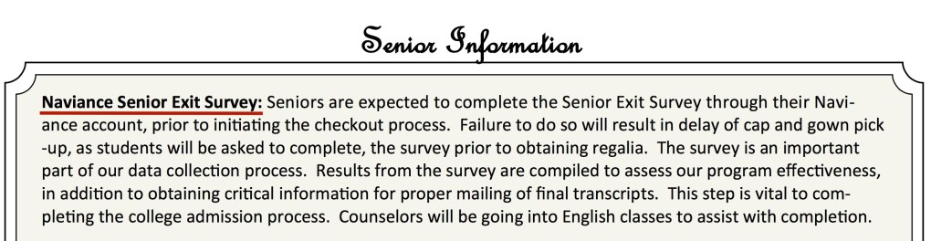 Naviance Senior Survey 2