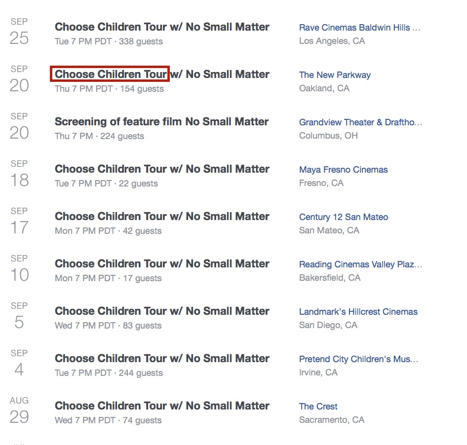 choose children tour