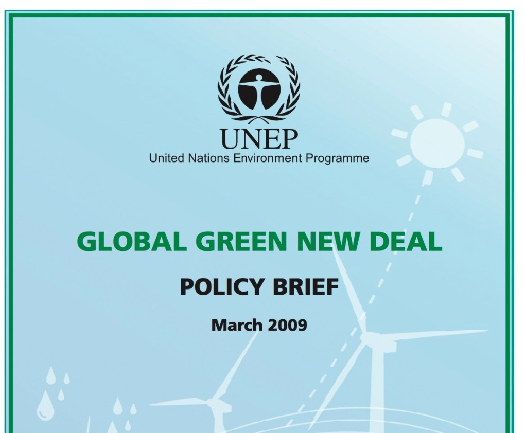 Global Green New Deal UNEP