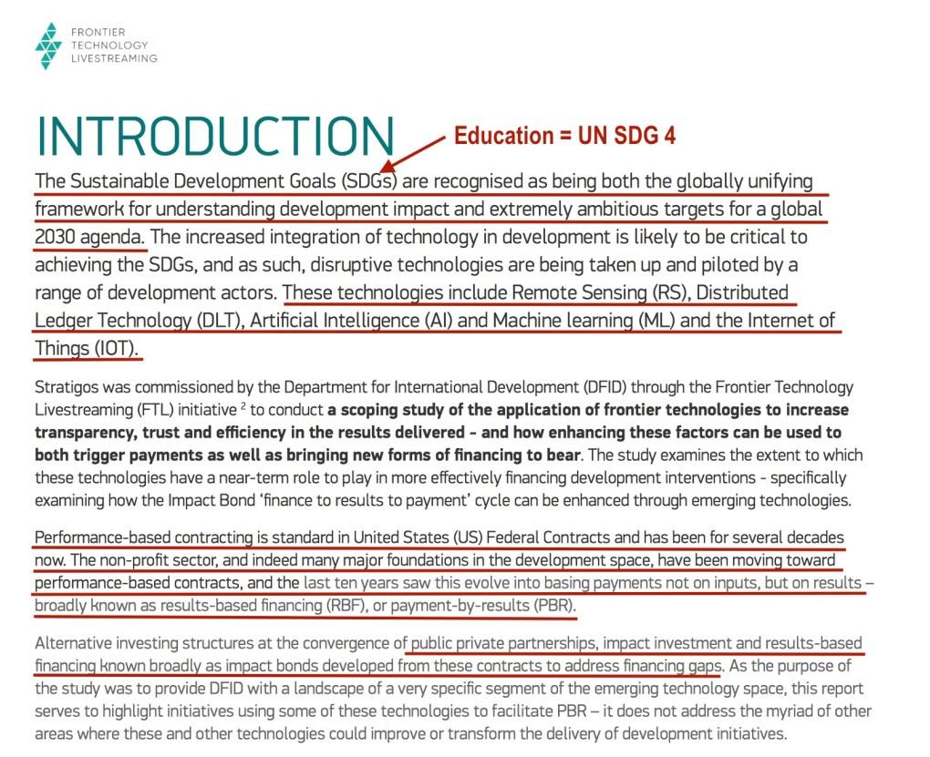 Emerging Tech Impact Bond UK AID