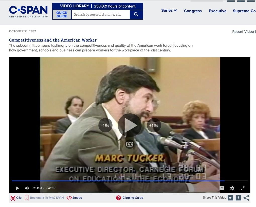 Marc Tucker C-Span