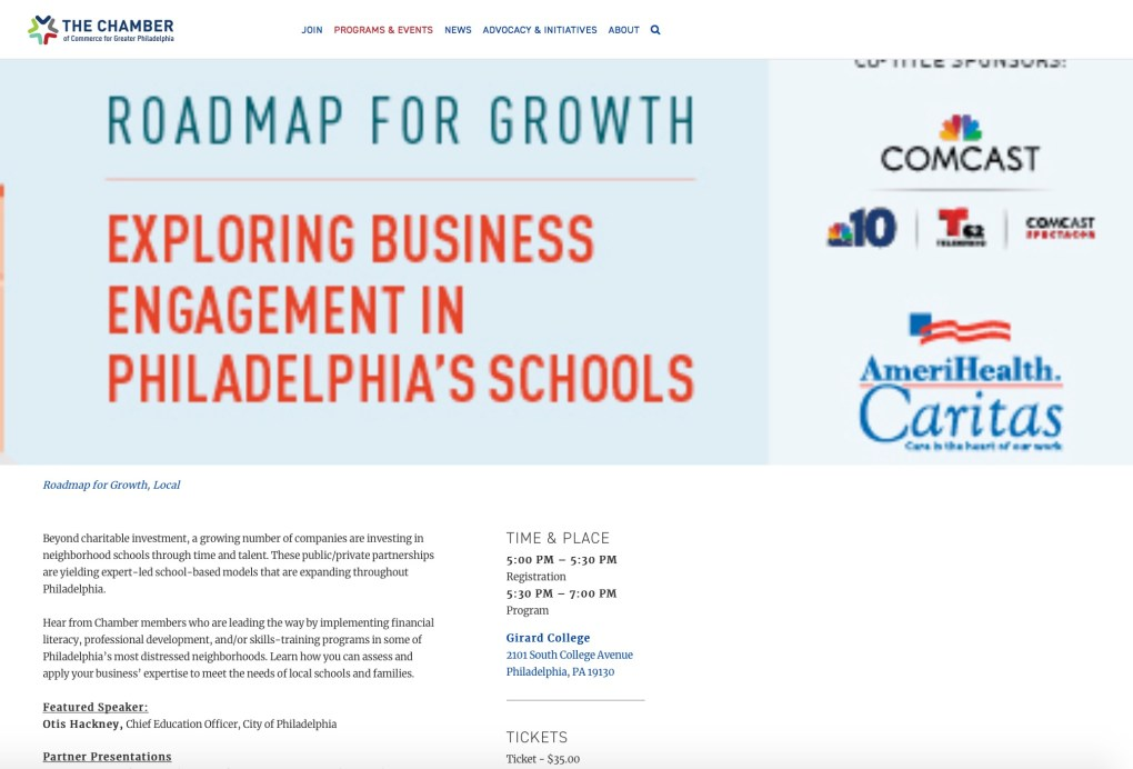 Philadelphia Chamber of Commerce Education